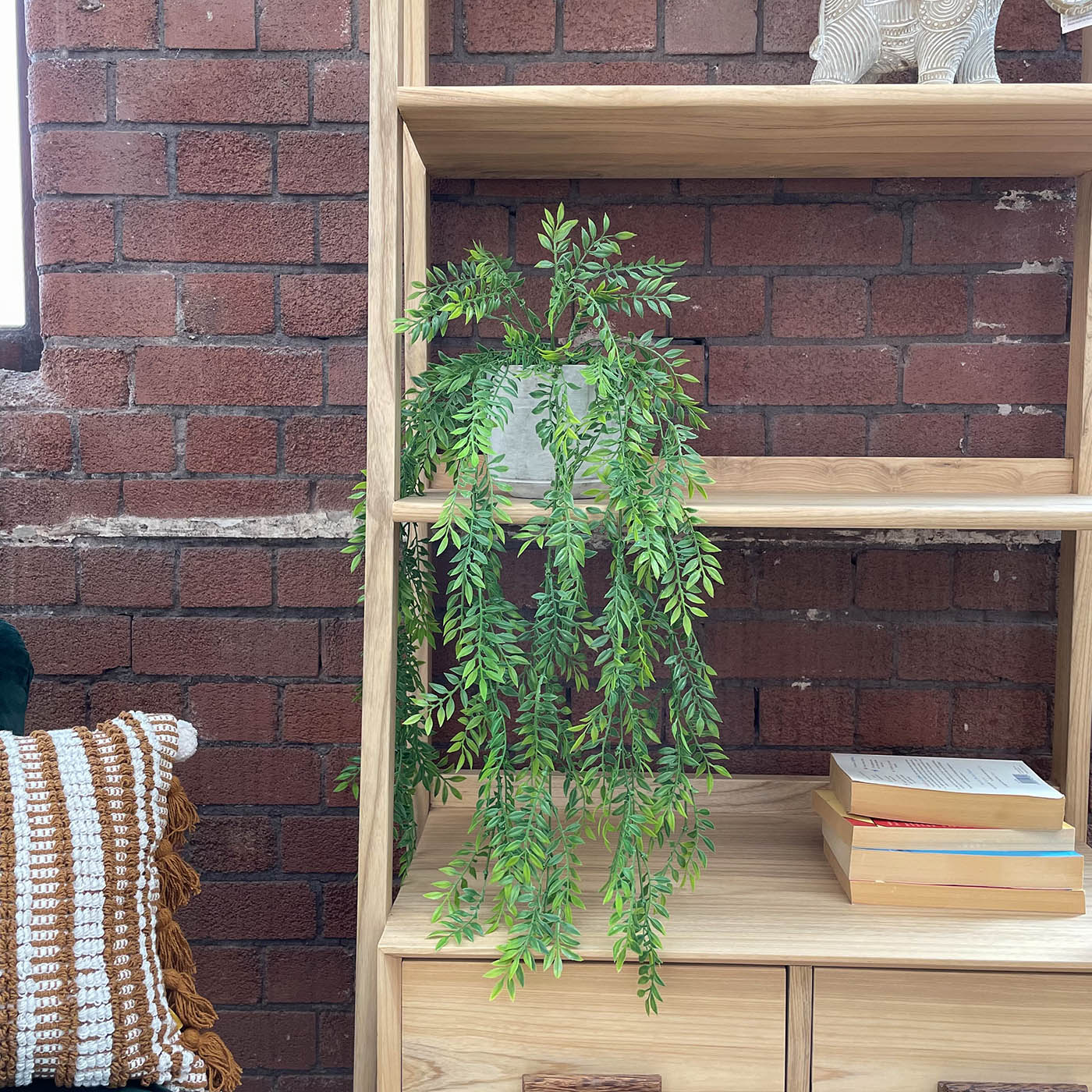 artificial hanging plant trailing vines