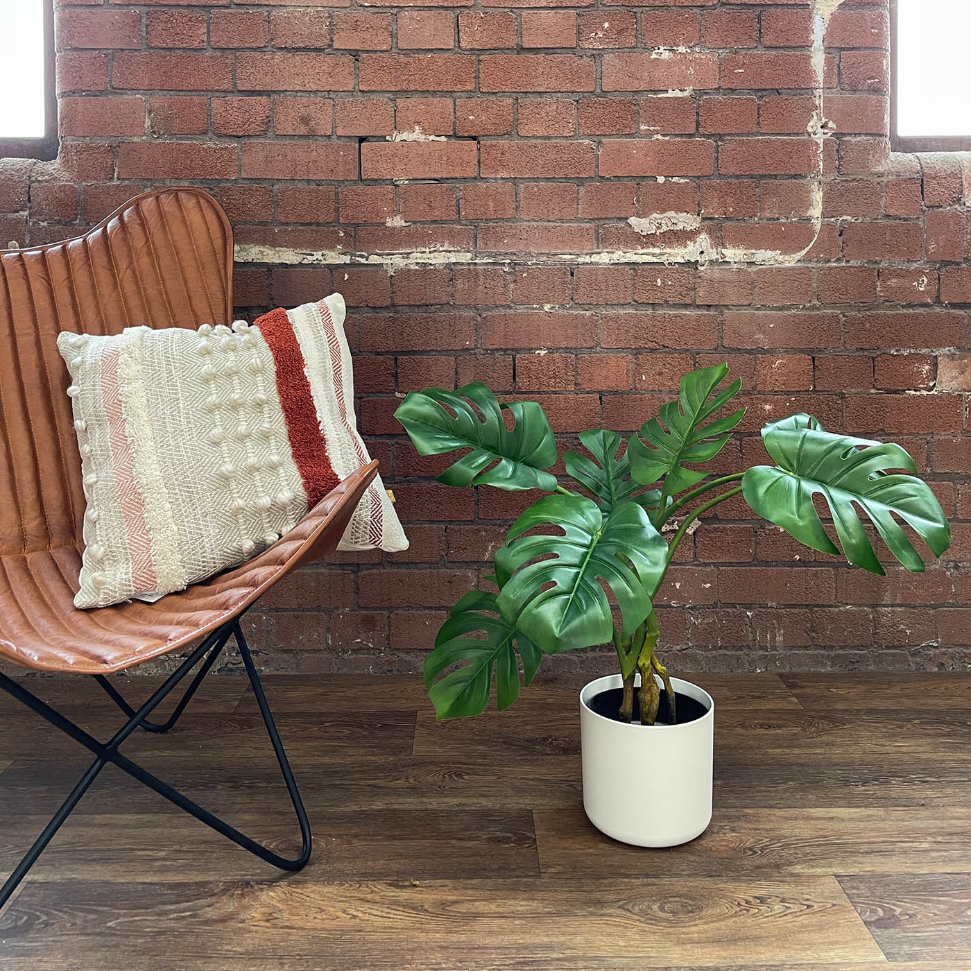 large artificial monstera plant