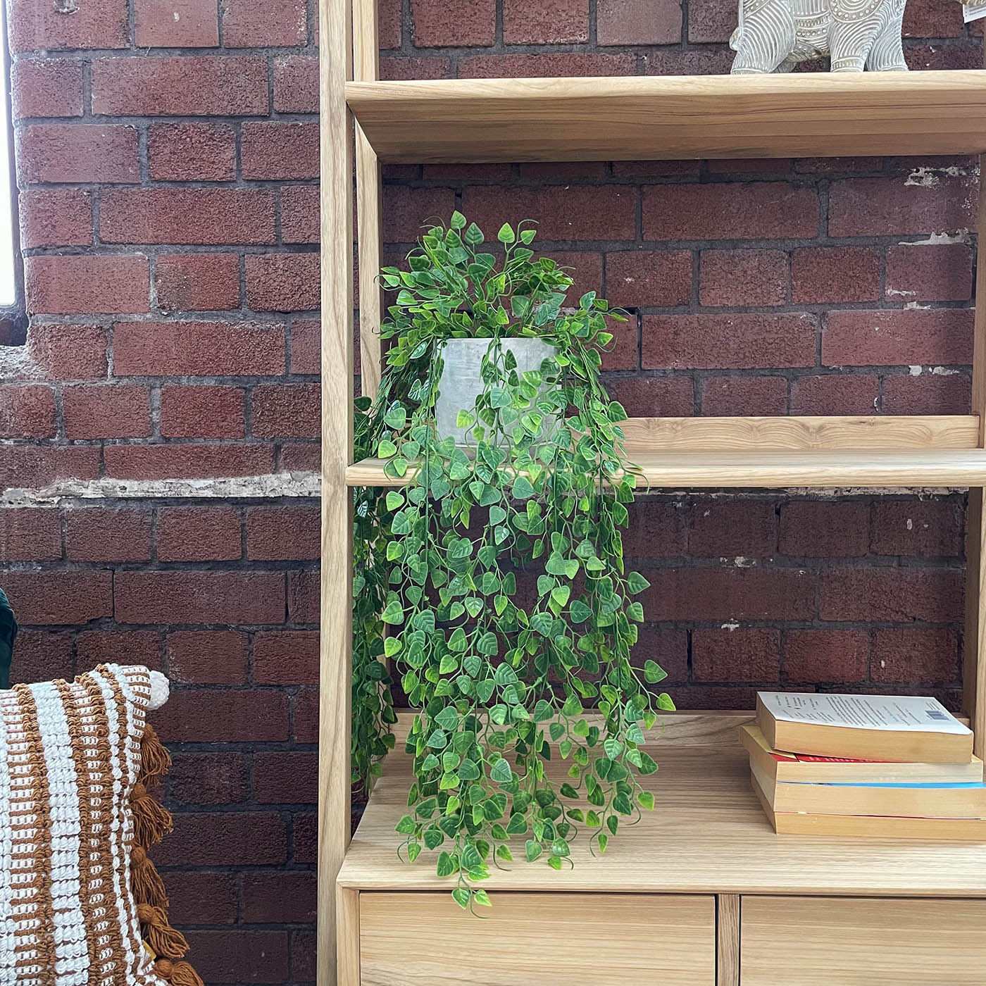 artificial hanging ivy plant